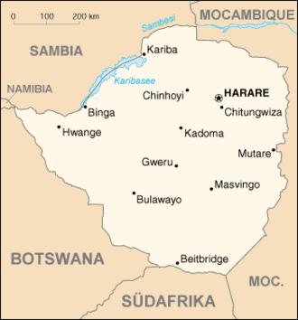 Karte von Simbabwe