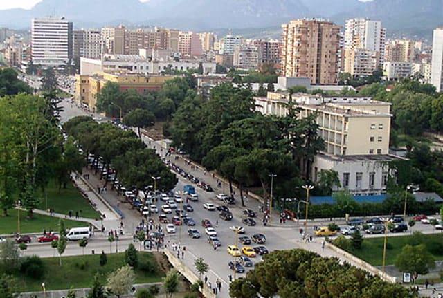 Blick auf Tirana, die Hauptstadt von Albanien