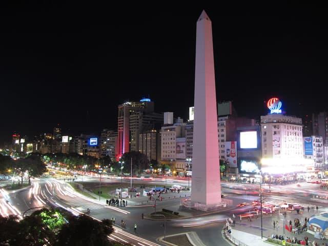 Der Obelisk in Buenos Aires, Hauptstadt von Argentinien