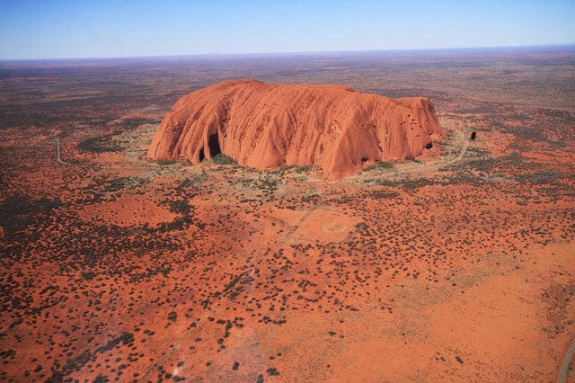 Der Ayers Rock, heiliger Berg der Aborigenes