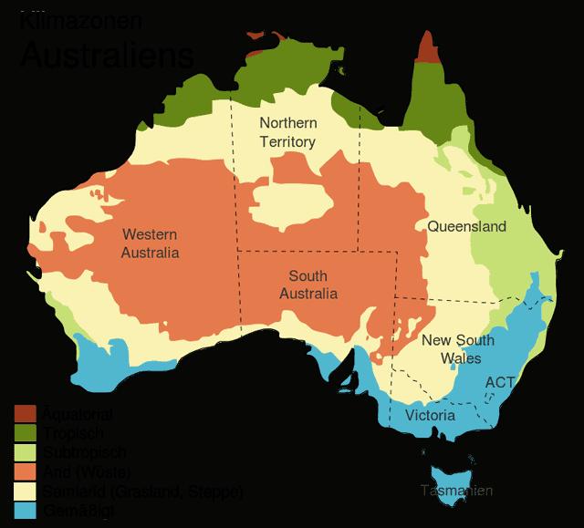 Klimazonen von Australien
