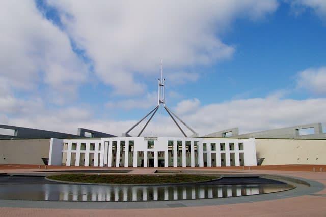 Das Parlamentsgebäude in Canberra
