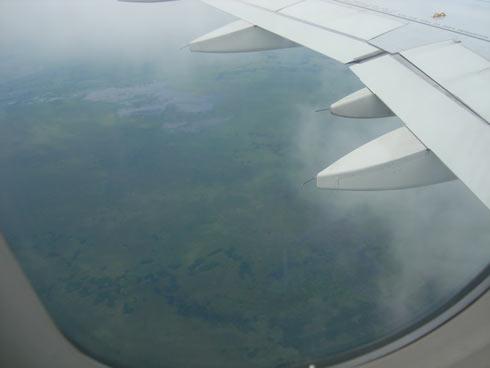 Paraguay aus dem Flugzeug