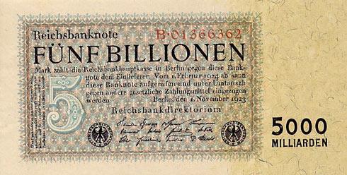 Fünf Billionen Reichsmark