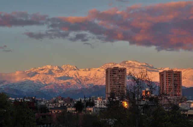 Santiago Sonnenuntergang