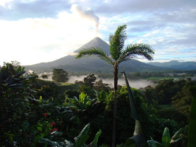 Der Arenal, ein aktiver Vulkan in Costa Rica