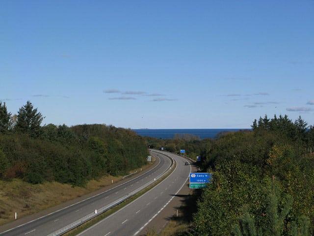 Die Europastraße E45 bei Frederikshavn, Foto von Matthias Schalck