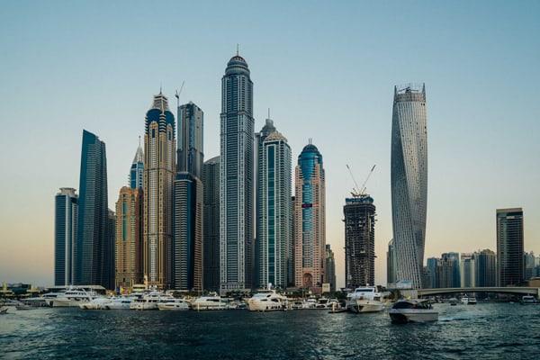 Skyline von Dubai City