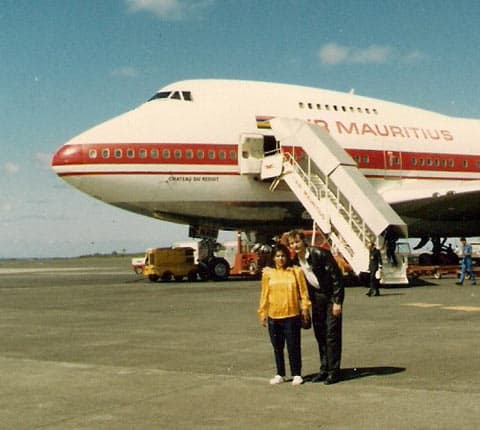 Flughafen Mauritius Ankunft