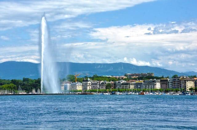 Genf, vom Genfer See aus
