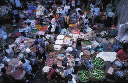 Alltag: Markt in Bali