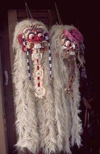 traditionelles Handwerk in Bali: Masken