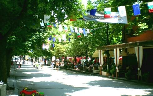 Hauptstraße von Sandanski