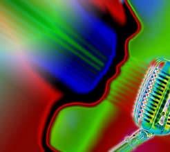 Sänger am Mikrofon - Harmonie im Klang