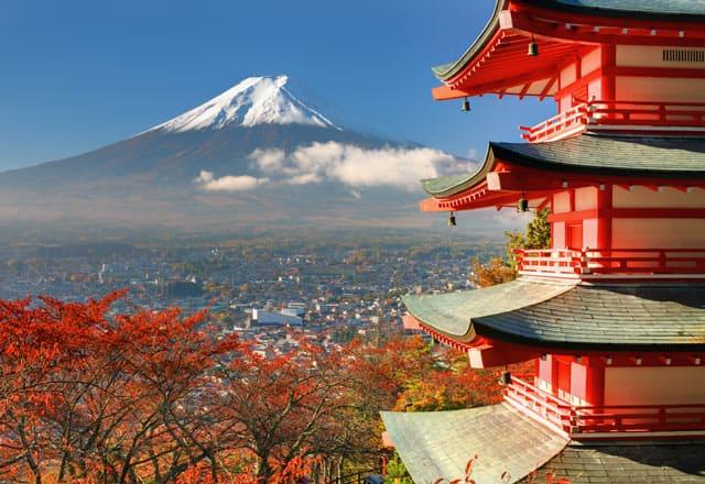 Der Fuji, heiliger Berg Japans