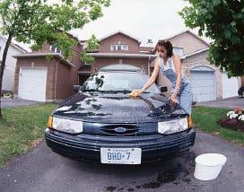 Kanadisches Auto waschen