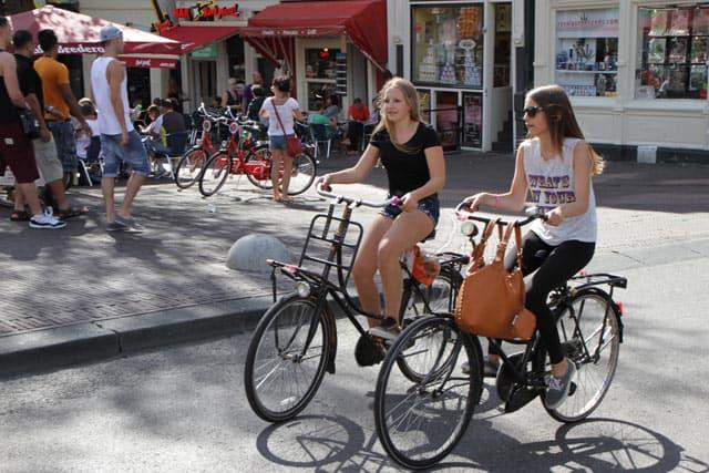 Fahrrad fahren in Amsterdam