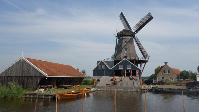 Historische Mühle in Friesland