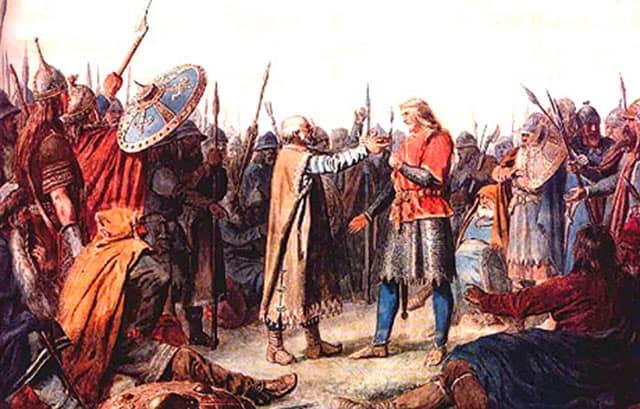 König Olav I. Tryggvason, von Peter Nicolai Arbo
