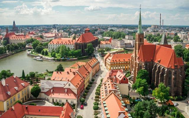 Polen: Blick auf das alte Breslau