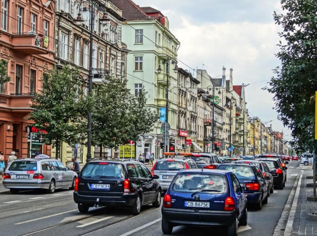 Straße in Danzig