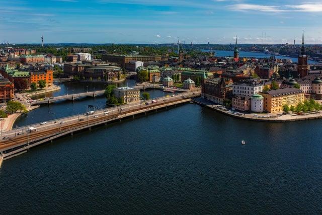 Blick auf Stockholm, die Hauptstadt von Schweden