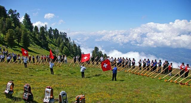 Schweiz: die Alphörner rufen