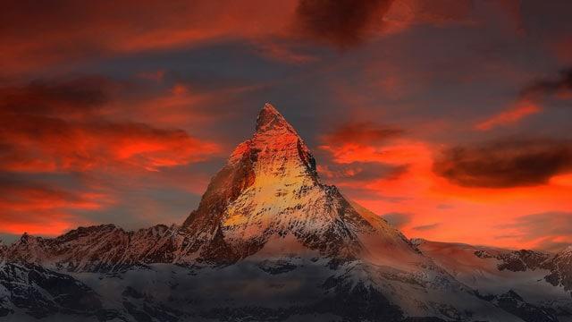 Das Matterhorn, fast viereinhalbtausend Meter hoch.