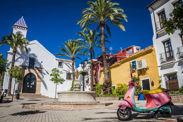 Spanien Idylle: Altstadt von Marbella