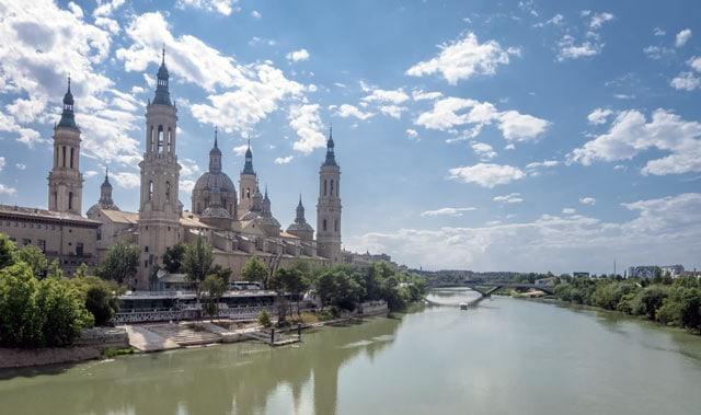 Blick auf Saragossa