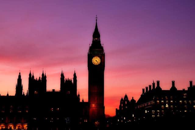 London Skyline am Abend