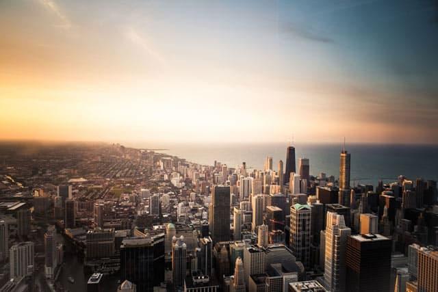 Blick über Chicago