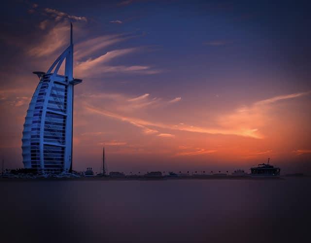 Das Hotel Burj al Aarab ist das Wahrzeichen von Dubai