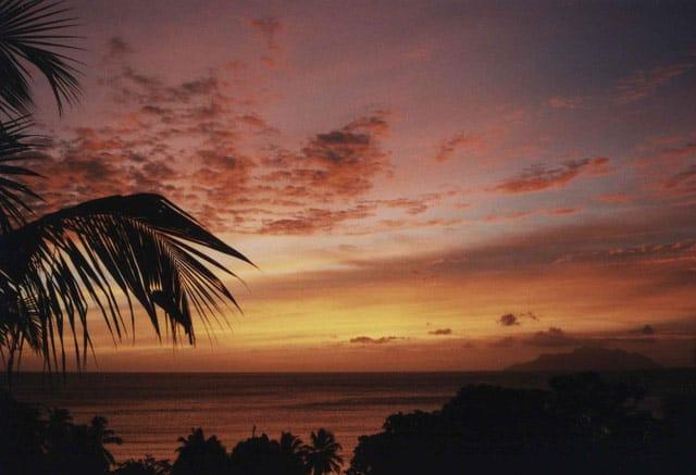 Abend auf den Seychellen
